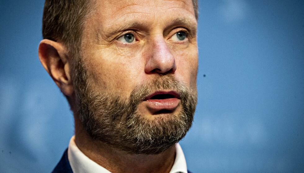 MINISTER: Ifølge helse- og omsorgsminister Bent Høie er en førsteversjon av coronapasset allerede er klart . Foto: Bjørn Langsem / Dagbladet