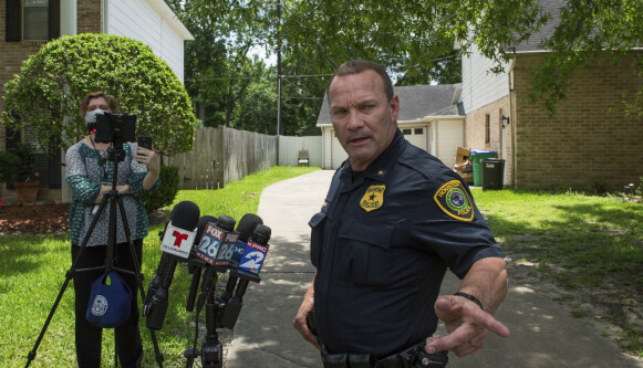 Tigers wanted: Police Chief Ronald Porsche at a press conference on Monday.  Photo: Godofredo A.  Vasquez / Houston Chronicle / AB / NDP
