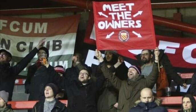 FC UNITED: Baker og hans medeiere i protestklubben. Foto: Privat