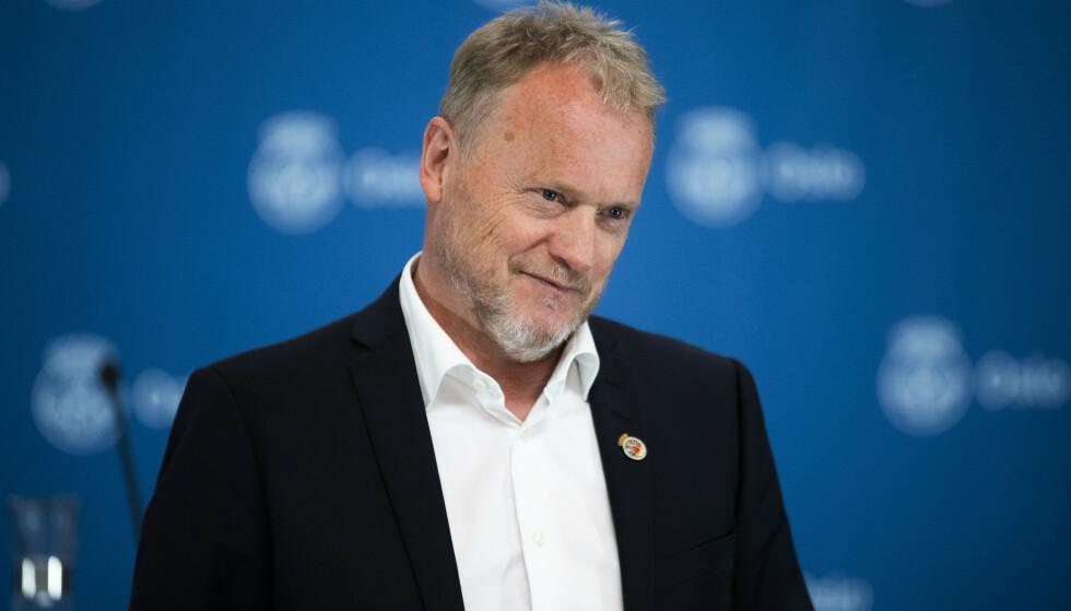 ENDELIG: Raymond Johansen får endelig viljen sin - Oslo får langt flere vaksiner. Foto: Berit Roald / NTB