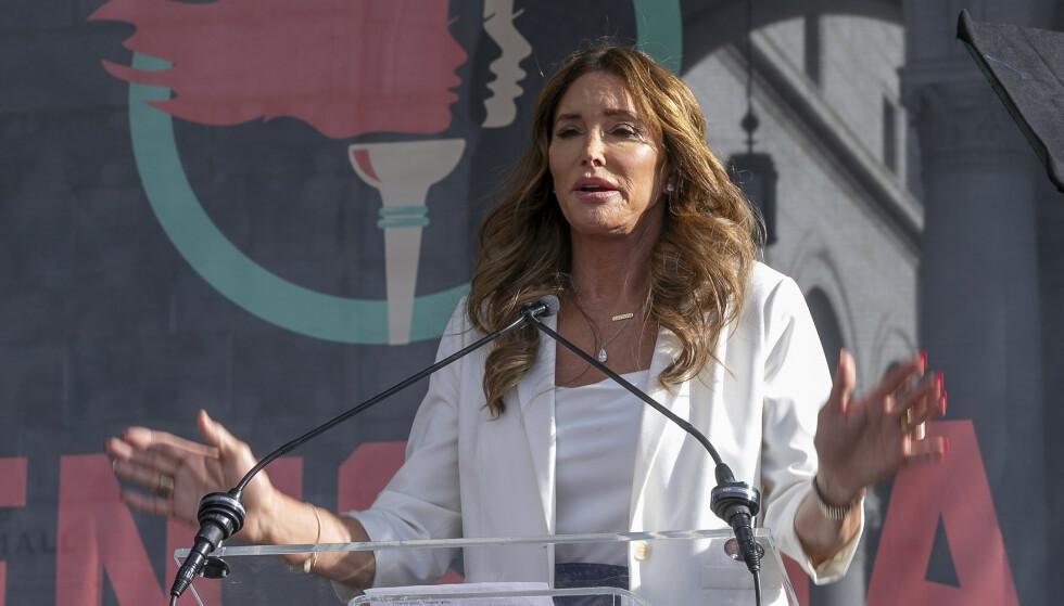 GUVERNØR-AKTUELL: Jenner er for tiden aktuell som guvernør-kandidat i California - hvis republikanerne lykkes i å tvinge fram en avstemning. Foto: Damian Dovarganes / AP / NTB