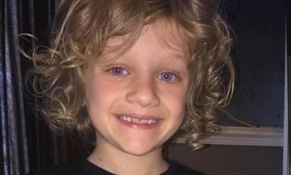 STORM: Ni år gamle Jordan Banks gikk bort etter skader han pådro seg i forbindelse med kraftig uvær. Ifølge politiet ble han truffet av lynet. Foto: Lancashire Police