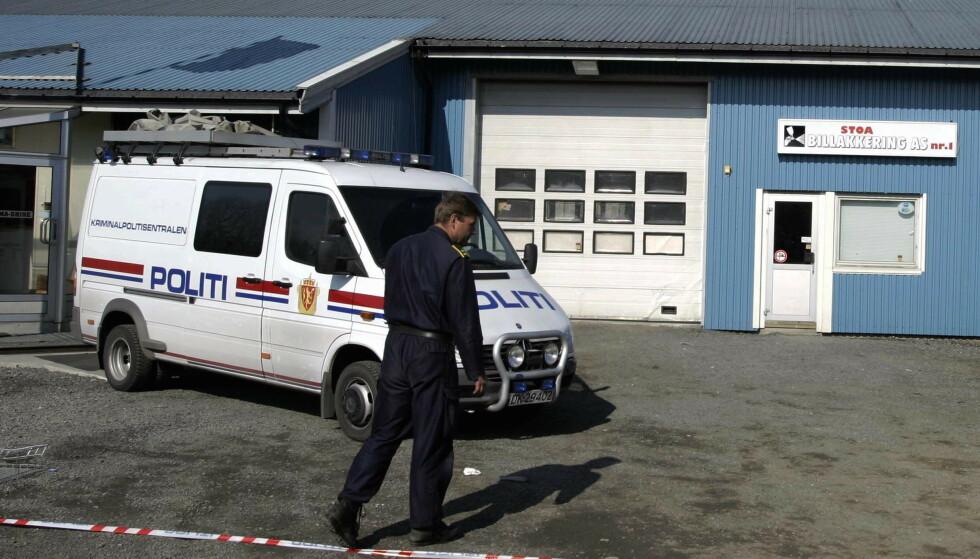 BRUTALT: Den tiltalte mannen er fra før dømt i Stoa-drapet. Her fra åstedet i 2003. Foto: Knut Fjeldstad / NTB