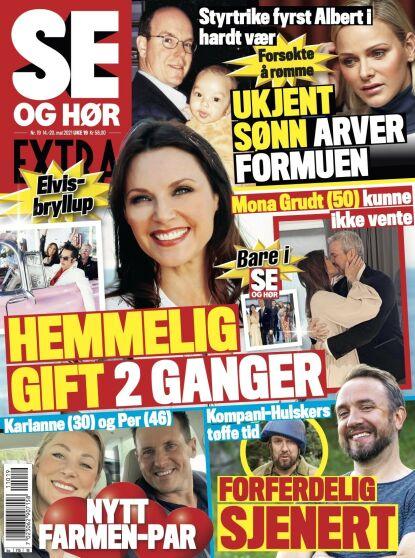 GIFT: Det er i fredagens utgave av Se og Hør Mona Grudt avslører at hun har giftet seg. Faksimile: Se og Hør
