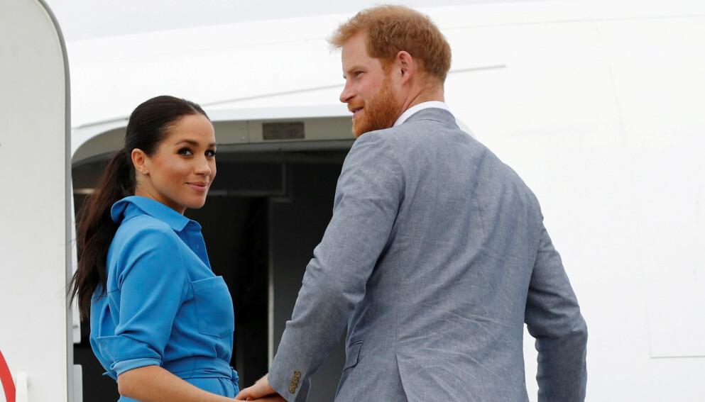 HEMMELIGE MØTER: Prins Harry avslører at han møtte Meghan flere ganger før forholdet ble kjent. Foto: Phil Noble / Reuters / Pool / NTB