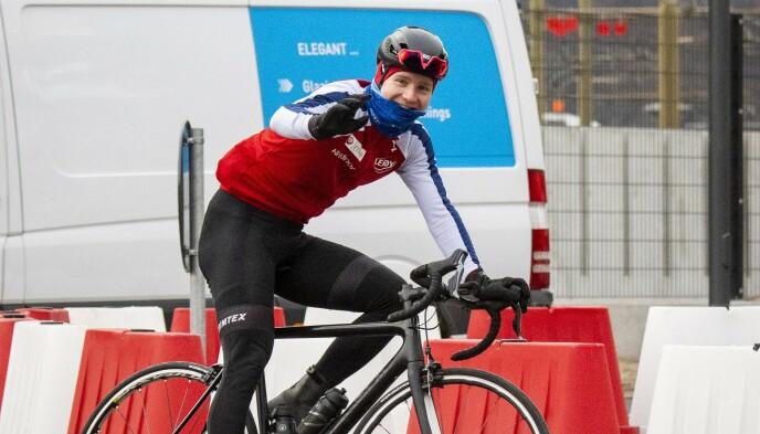 SYKKEL: Sverre Lunde Pedersen avbildet mens han trente på sykkel i Collalbo, Italia i 2018. Foto: Lars Eivind Bones / Dagbladet