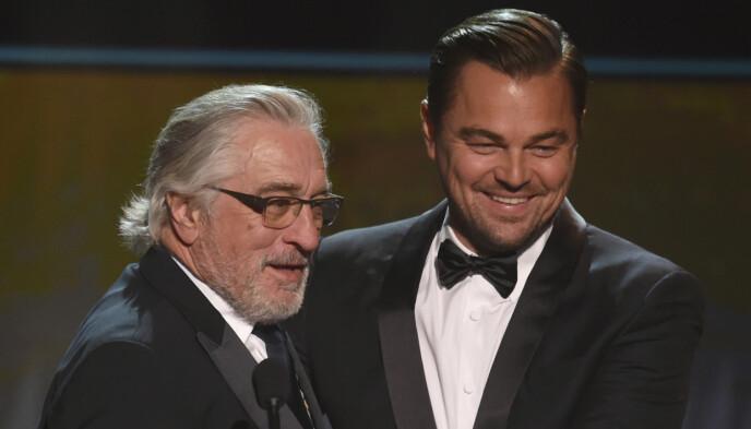 SPILLER SAMMEN: Robert De Niro og Leonardo DiCaprio spiller begge i filmen «Killers of the Flower Moon». Regissør er Martin Scorsese. Foto: Chris Pizzello / Invision