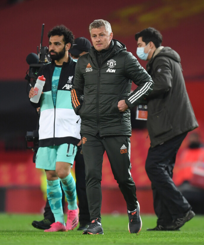 NEDERLAG: Ole Gunnar Solskjær og Manchester United tapte 2-4 for Liverpool. Foto: NTB