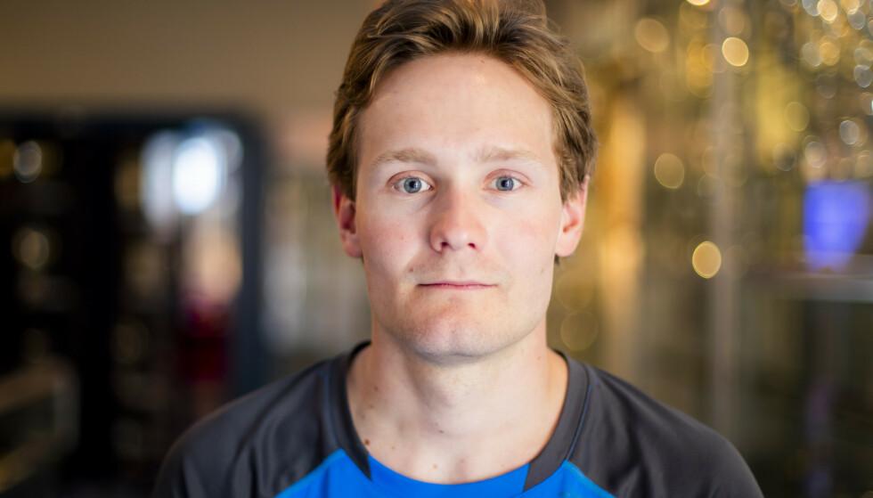 VED GODT MOT: Skøyteløper Sverre Lunde Pedersen skal være våken og ved godt mot etter sykkelulykken. Foto: Håkon Mosvold Larsen / NTB