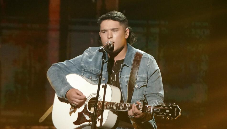 KONTROVERS: En kontroversiell video med «American Idol»-deltaker Caleb Kennedy, har ført til at han blir kastet ut av konkurransen. Foto: Eric McCandless/ABC via AP.