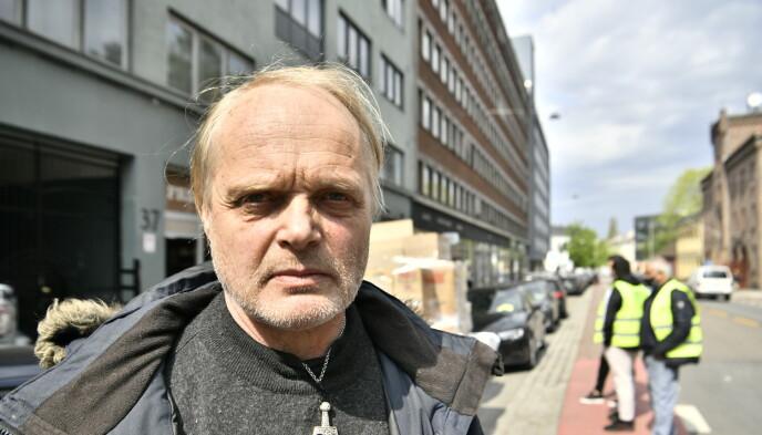 VOLDSOM KØ: Styreformann i Fattighuset Sverre Rusten sier dagens har vært preget av lange køer. FOTO: LARS EIVIND BONES / DAGBLADET