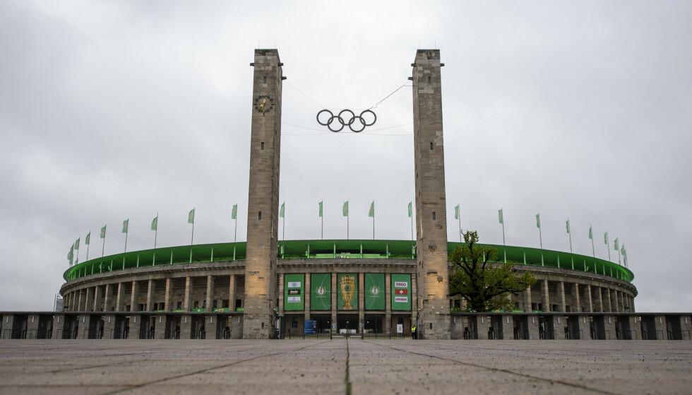 HJEMMEBANE: Hertha Berlin spiller hjemmekampene på Olympiastadion i den tyske hovedstaden. Foto: NTB