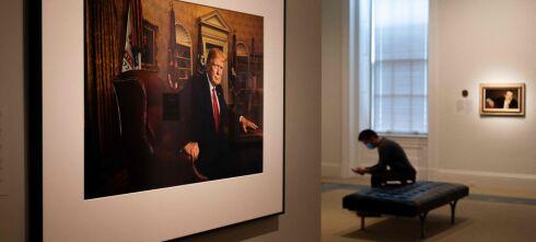 Trump-portrett vekker oppsikt