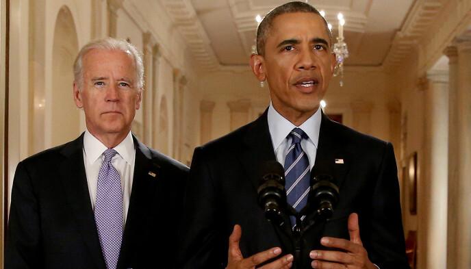 BØD PÅ PROBLEMER: : Tidligere president i USA, Barack Obama, kom tidlig i presidentskapet med en uttalelse som fikk Israel til å reagere. Joe Biden var visepresident under Obama, og ekspert tror han har lært av sin tidligere sjefs feil. Foto: Andrew Harnik / Reuters / NTB