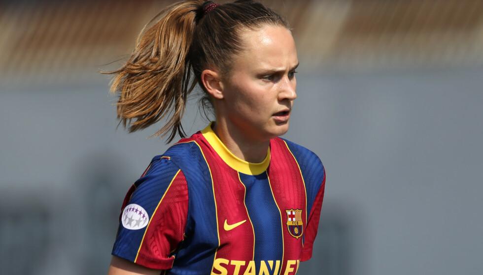 FÅR SKRYT: Caroline Graham Hansen. Foto: Jonathan Moscrop/Sportimage via PA Images/NTB