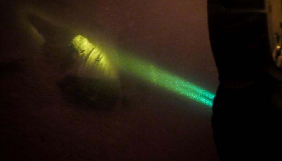 I SETTEN: Magne Overrein dokumenterte hele søket med en GoPro festet til armen. Foto: Magne Overrein