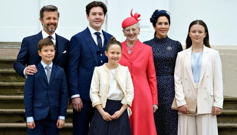 STJAL OPPMERKSOMHETEN: Prinsesse Isabella får nå mye oppmerksomhet for en kommentar i storebrors konfirmasjon. Foto: Keld Navntoft / Ritzau Scanpix / AFP / Denmark OUT / NTB