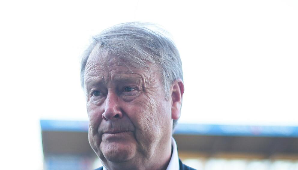 MISFORNØYD: Rosenborgs trener Åge Hareide etter kampen mot Bodø/Glimt. Foto: Mats Torbergsen / NTB