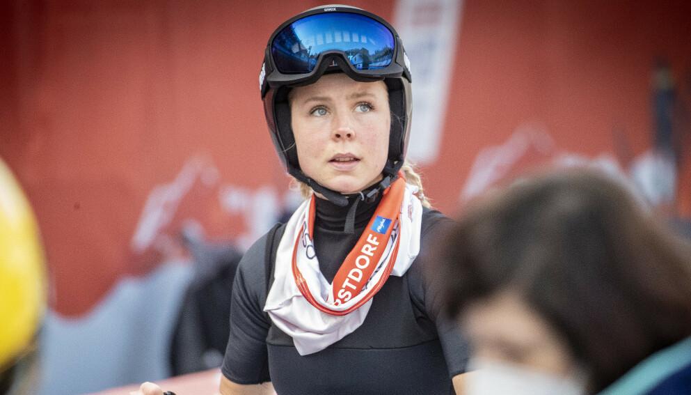 HÅP: Maren Lundby gir ikke opp drømmen om å få hoppe skiflyging. Foto: Bjørn Langsem / Dagbladet