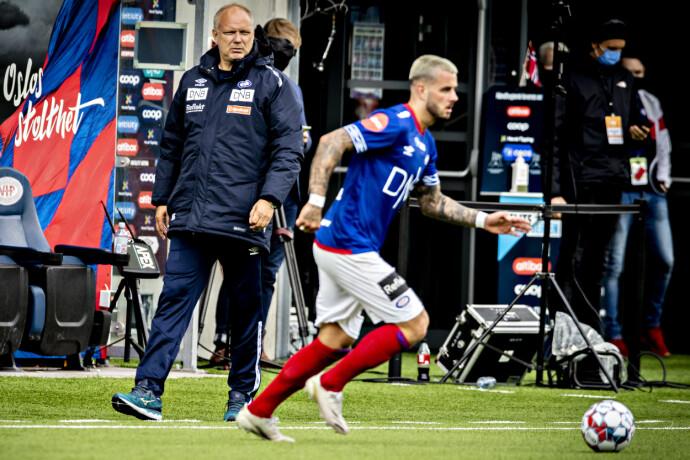HOLD KJEFT: Høy temperatur da Aron Dønnum ba trener Dag-Eilev Fagermo holde kjeft. Foto: Bjørn Langsem / Dagbladet