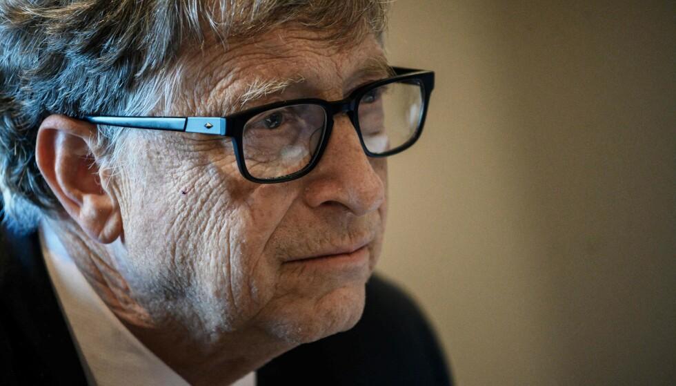 BLE ETTERFORSKET: Bill Gates ble etterforsket av Microsoft for en tidligere affære fra 2000. Etterforskningen fikk aldri en konklusjon, fordi Gates trakk seg ut av styret i selskapet. Foto: Jeff Pachoud / AFP / NTB
