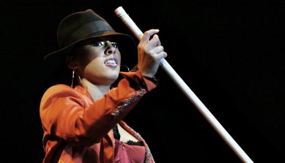 PÅ QUARTEN: Alicia Keys har vært i Norge mange ganger. Dette bildet er fra Quart-festivalen i 2004. Foto: Anders Grønneberg