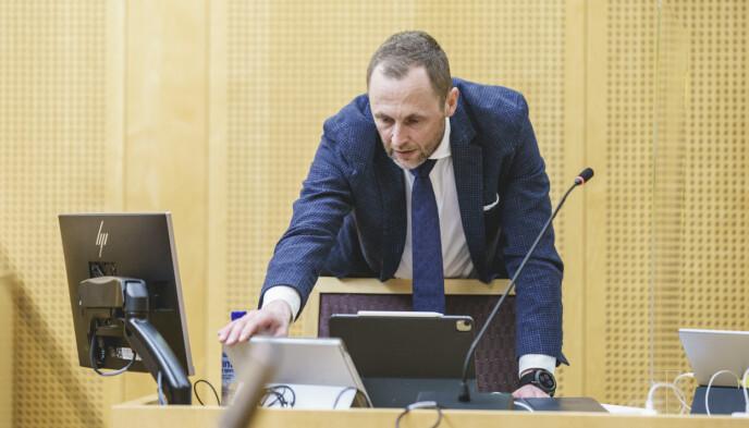 STATSKANALENS MANN: Advokat Anders Stenbrenden fører saken for NRK. Foto: Stian Lysberg Solum / NTB