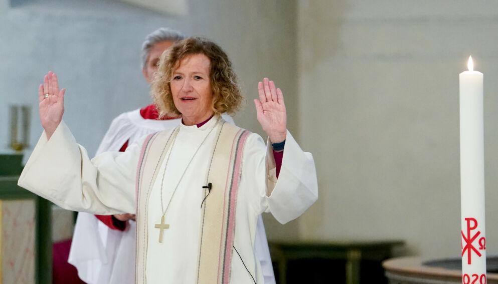 - BØR VELGE: Christian Tybring-Gjedde mener biskop Kari Veiteberg bør velge mellom å være politisk aktivist og biskop. Foto: Fredrik Hagen / NTB