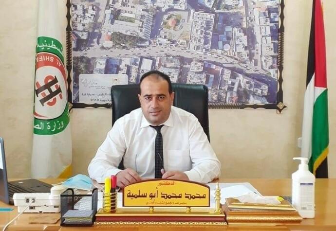 HARDT PRESSET: Muhammed Abed Silmia er sjef for Gazas største sykehus, Shifa-sykehuset. - Vi mangler medisiner og utstyr, to av legene våre er drept, mens en annen er skadd.... Dette er forferdelig og må slutte, sier han til Dagbladet. Foto: Privat