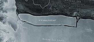 Verdens største isfjell har løsnet