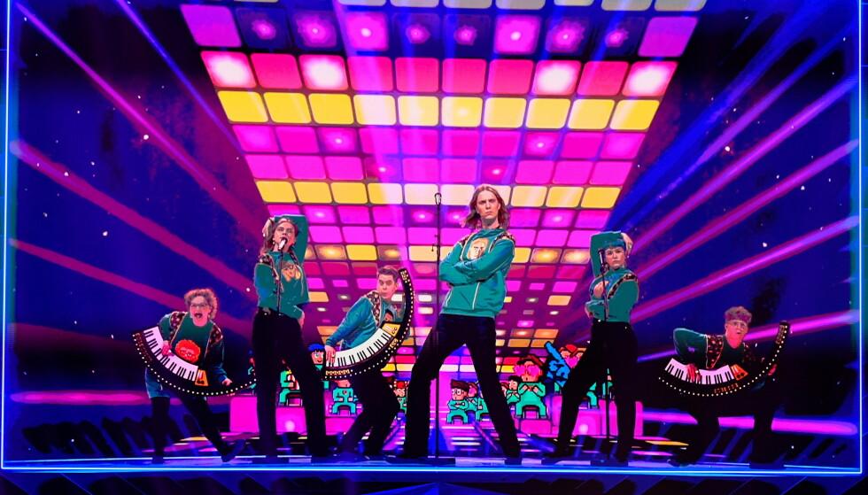 VIDERE: Til tross for at de ikke kunne delta fysisk gikk Island videre i Eurovision Song Contest. Foto: NTB/Reuters.