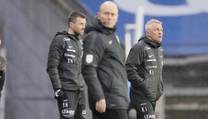 SÅ LAGET RAKNE: Kåre Ingebrigtsen og Eirik Horneland fikk null fangst på Lerkendal. Foto: Ole Martin Wold / NTB