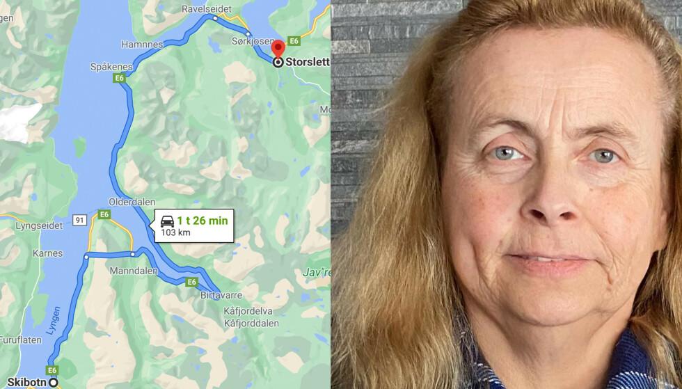 BOMTUR: Etter å ha kjørt i nesten 1,5 timer ble Anne.Lise Karlsen møtt av en stengt dør hos Statens vegvesen. Foto: Privat.