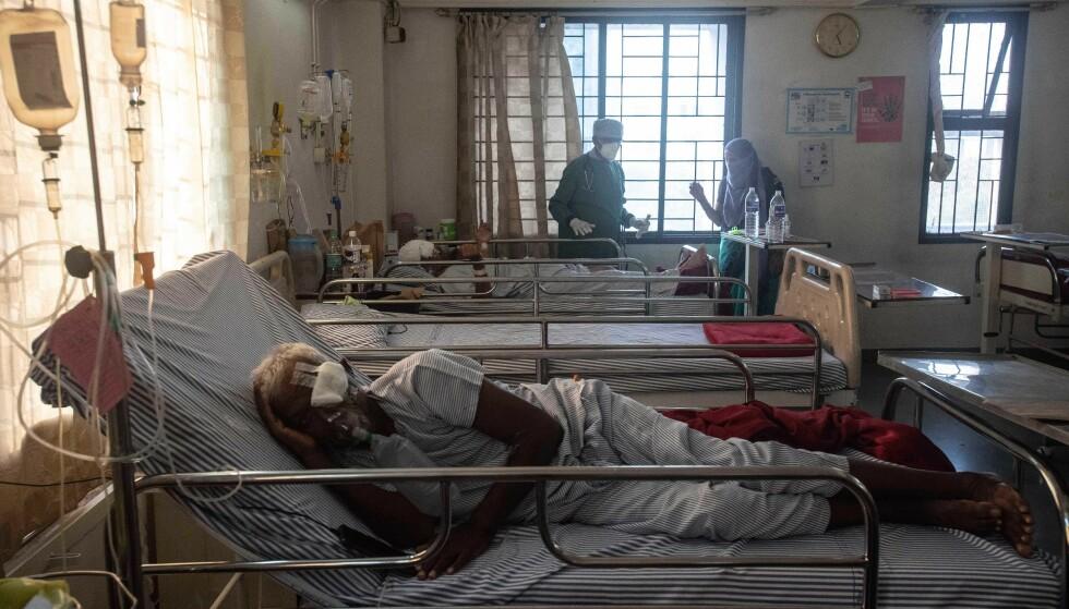 UTBRUDD: På Noble Hospital i Hadapsar er mange pasienter innlagt med Mucormykose. Flere har måttet fjerne øyne for å hindre spredning. Foto: Shutterstock / NTB