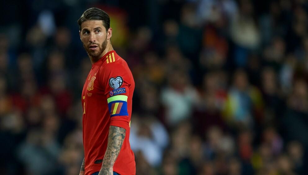 IKKE MED: Sergio Ramos er vraket fra Spanias EM-tropp. Foto: NTB