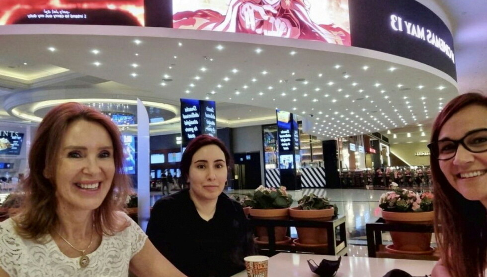 In het winkelcentrum: een vriend bevestigt dat het prinses Latifa is die op de Instagram-foto staat afgebeeld.  Foto: privé