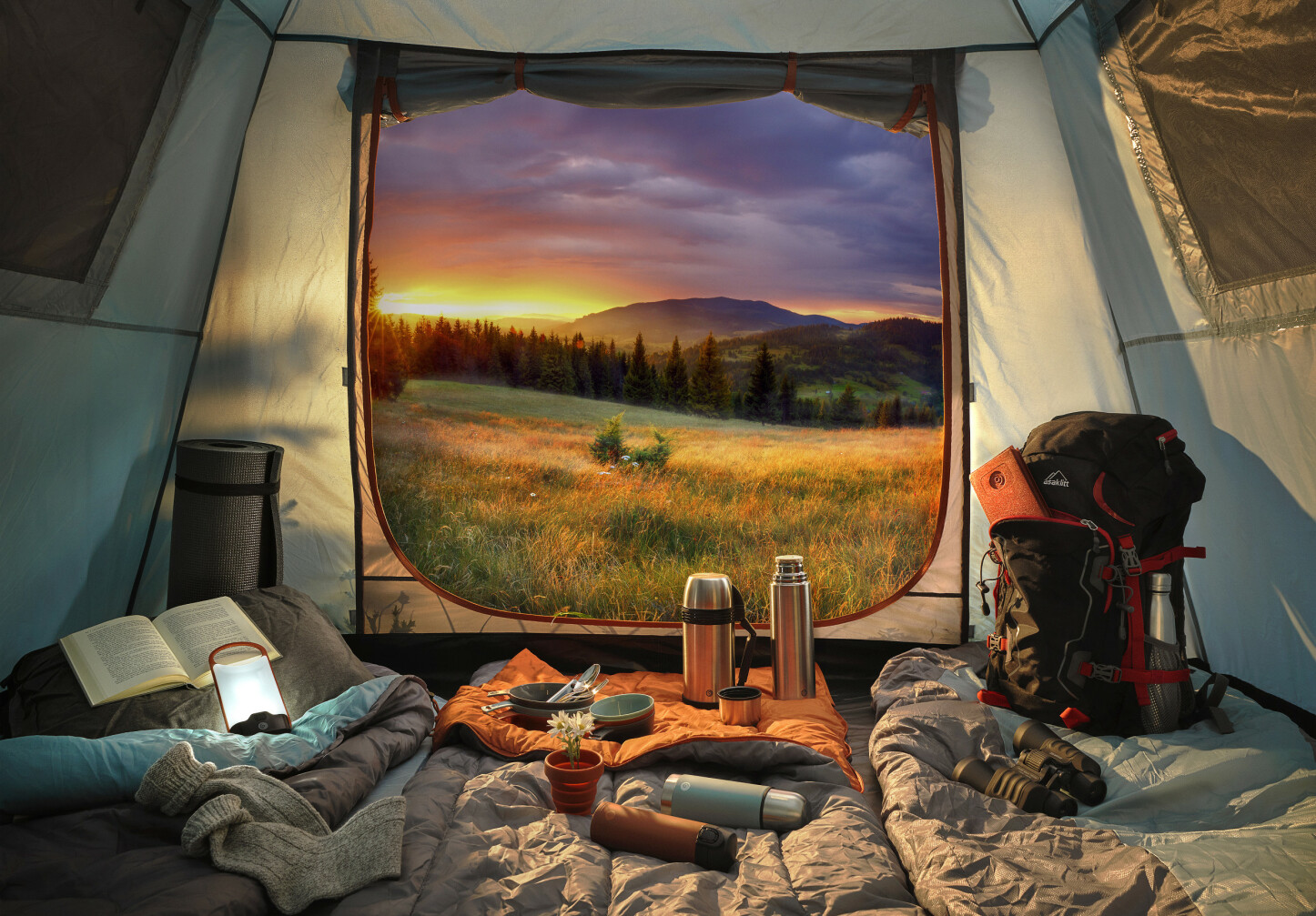 UT PÅ TUR: Med et godt sted å campe og riktig utstyr, kan du lett forvandle helga eller fridagen til et øyeblikk å huske.