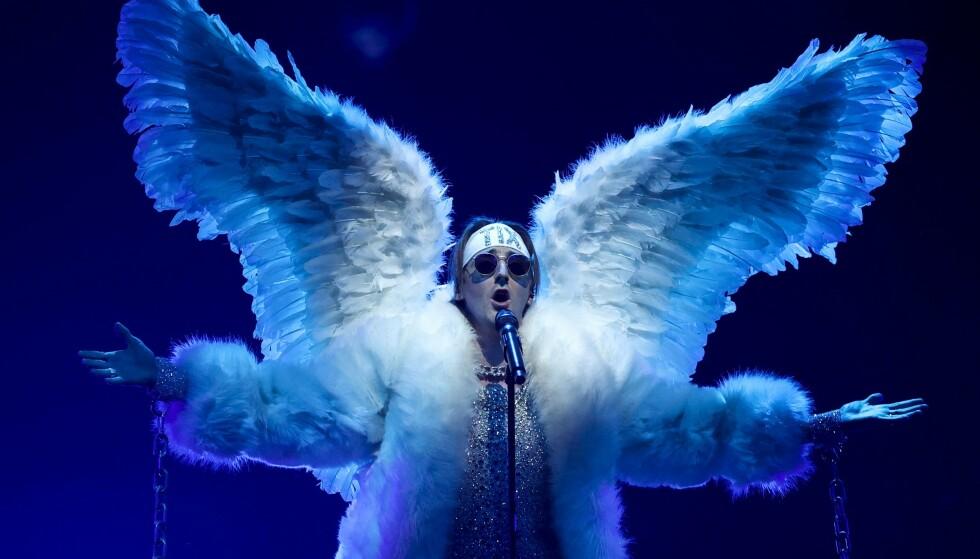 TIÅRSBESTE. Årets seertall for Eurovision-finalen er nå offentliggjort, og nærmere 1,5 millioner seere fikk med seg årets finale der Italia ble kronet som vinnere, og Tix endte på 18. plass. Foto: AFP / NTB.