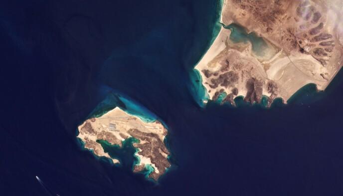 Strategicamente importante: l'isola si trova pochi chilometri a sud del punto più meridionale dello Yemen, ed è situata nell'importante stretto di Bab al-Mandab, dove il Mar Rosso incontra il Golfo di Aden.  Foto: AP / NTB