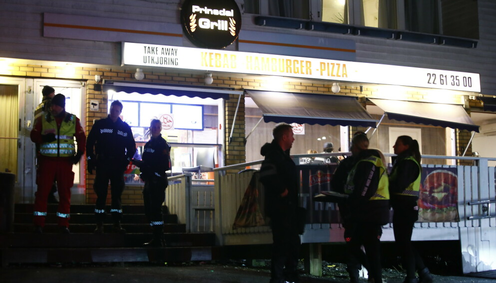 SKUTT VED GATEKJØKKEN: Halil Kara ble skutt utenfor Prinsdal Grill seint om kvelden 10. januar i fjor. Foto: Terje Pedersen / NTB