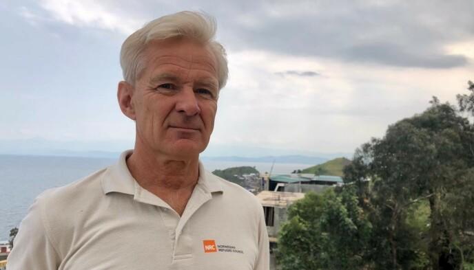JORDA SKJELVER: Mens organisasjoner og folk evakuerer på grunn av vulkanutbruddet ved Goma i det nordøstlige DR Kongo, er Jan Egeland og Flyktninghjelpen på plass. De har fått nok av at verdens oppmerksomhet ikke er rettet mot verdens kanskje verste konflikt. Foto: NRC