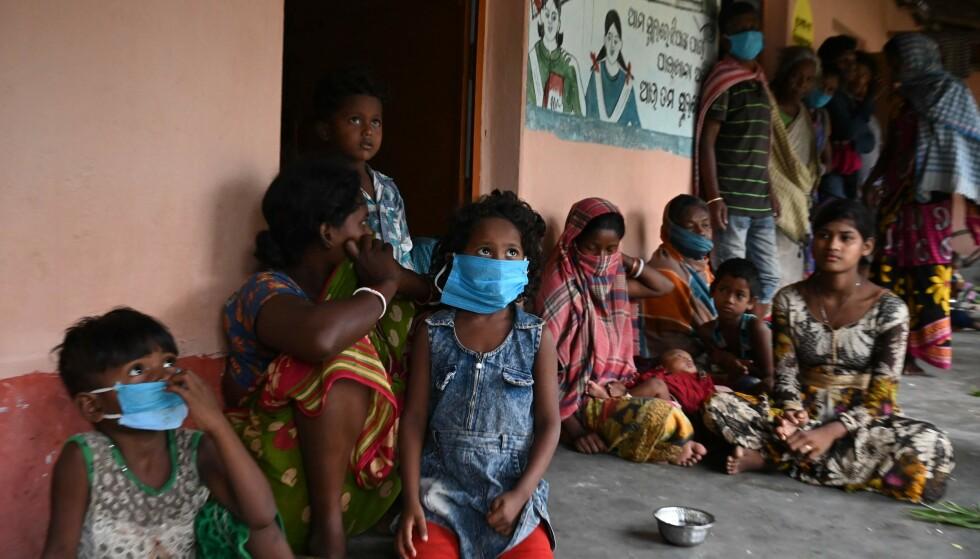 Nessuna scelta: è così che centinaia di migliaia di giovani e adulti sono costretti a vivere nell'area ciclabile dell'India colpita.  Foto: AFP / NTB.