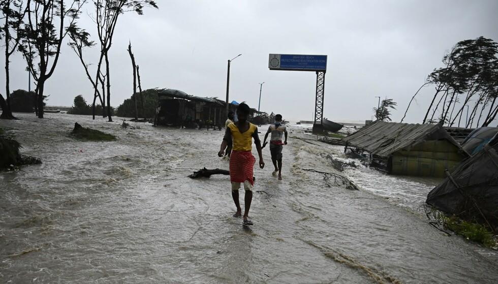 Distruttore: un'area residenziale distrutta nella città di Digha.  Foto: AFP / NTB.
