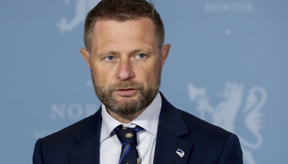 FLERE LAND: Fra 1. juli vil europeiske land som er koblet til EUs løsning kunne verifisere det norske coronasertifikatet på sine grenser, opplyste Helse- og omsorgsminister Bent Høie (H) under en pressekonferanse i går. Foto: Berit Roald / NTB