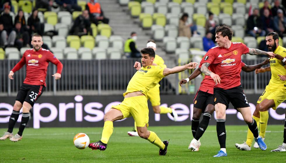 1-0: Moreno Gerard scoret kampens første mål Foto: NTB