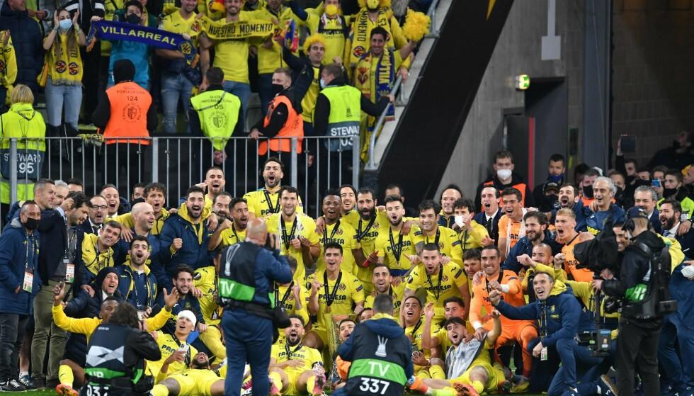 JUBEL: Villareal-spilleren. Foto: NTB