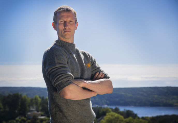 TILBAKE I NORGE: Frank Løke er fornøyd med å ha kommet seg tilbake på norsk jord etter Himalaya-ekspedisjonen. Her avbildet i forbindelse med «Farmen kjendis» i 2017. Foto: Tore Skaar/ Se og Hør