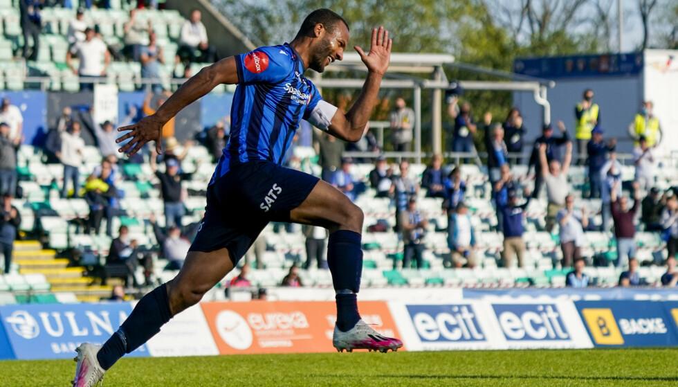 TAKK FOR SIST: Yaw-Ihle Amankwah scoret mot gamleklubben. Foto: NTB