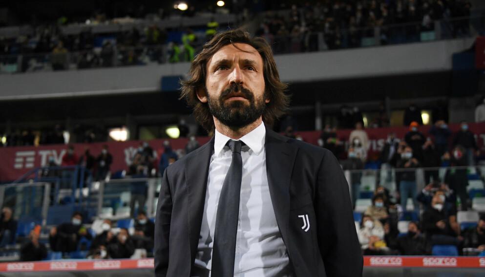 ÉN SESONG: Andrea Pirlo skuffet stort som Juventus-trener. Nå er han ferdig. Foto: Alberto Lingri/LaPresse via AP.