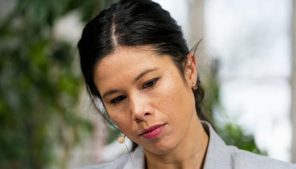 TILLITSKRISE: Lan Marie Berg går en usikker framtid i møte. Hun har i øyeblikket liten tillit hos flertallet i bystyret i Oslo. Foto: Håkon Mosvold Larsen / NTB